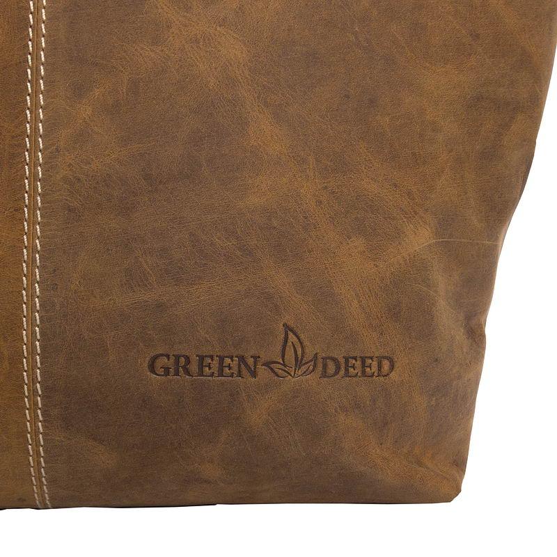 GreenDeed világosbarna női bőrtáska d5673633c5